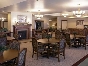 Photo of the beautiful dinning room at Library Terrace Assisted Living in Kenosha WI